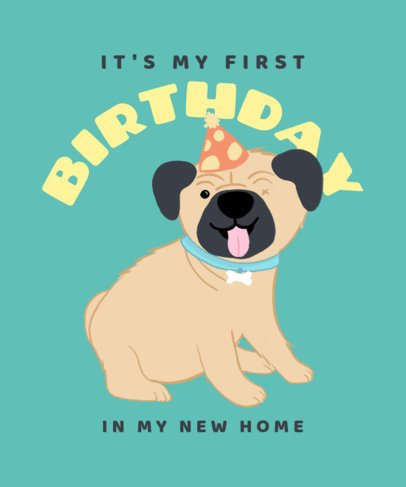 Illustrated T-Shirt Design Creator to Celebrate a Dog's B-Day 2701b