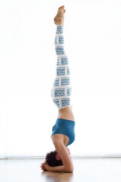Leggings Mockup of a Woman Doing an Advanced Yoga Headstand 38443-r-el2