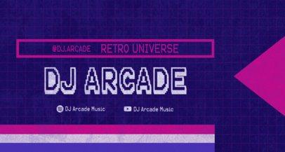 Twitch Banner Creator for a Retro Music DJ 2143e-el1
