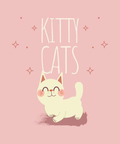 T-Shirt Design Maker Featuring Cute Kitties 2110-el1