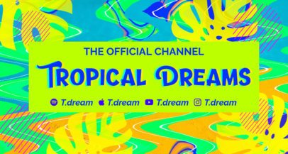Twitch Banner Generator with a Trippy Background Pattern 2721g