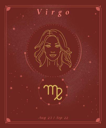 T-Shirt Design Maker Featuring a Virgo Sign and a Goddess 2722g