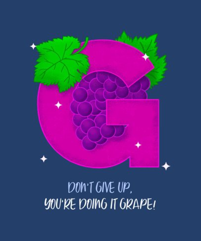 T-Shirt Design Maker with a Fruity Letter Graphic 2724d