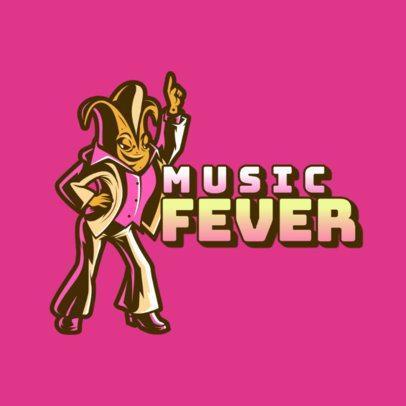 Gaming Logo Template Featuring a Disco Dancing Banana Character 3453a