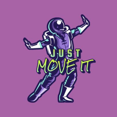 Gaming Logo Generator with a Dancing Astronaut 3453c