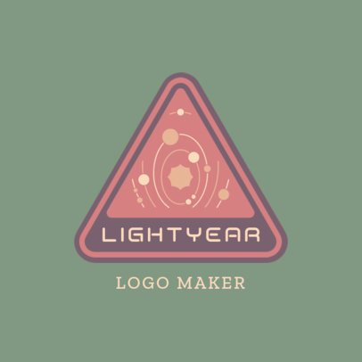 Logo Template with a 60's-Style Galaxy Illustration 3451e