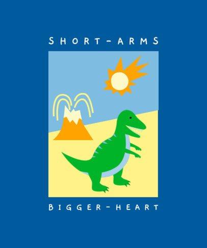T-Shirt Design Template with Cartoonish Dinosaur Graphics 2202-el1