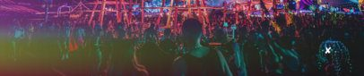 Soundcloud Banner Template Featuring People at a Concert 2730a