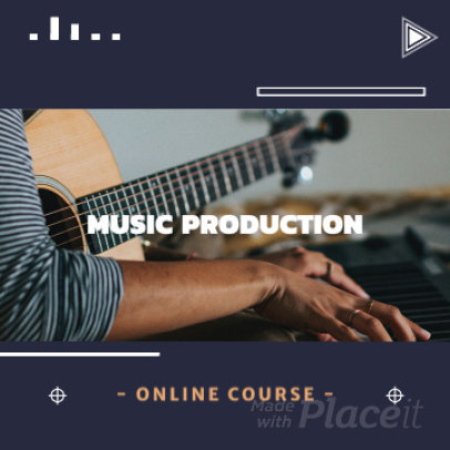 Instagram Post Video Maker for a Music Production Course 1534c-2128