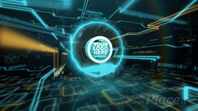 Intro Maker Featuring a Futuristic Hi-Tech Logo Reveal 1479-el1