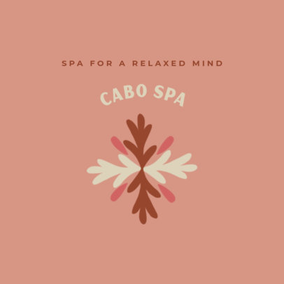 Minimal Logo Template for a Spa 3465a