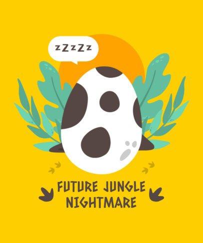 T-Shirt Design Creator with a Dinosaur Egg Graphic 2204c-el1