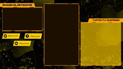 Twitch Overlay Creator for a Gamer Featuring a Dark Background 2726d