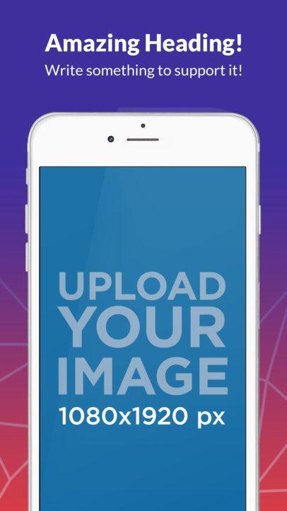 White iPhone 6s Plus Portrait Cut iOS Screenshot Generator
