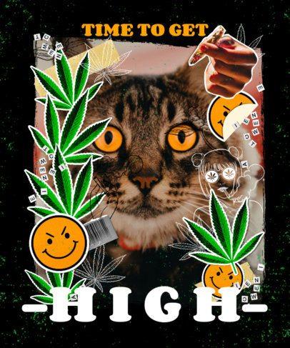 T-Shirt Design Maker Featuring Marijuana Leaves 2734f
