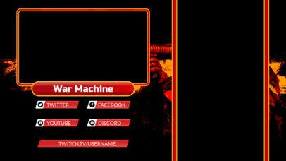 Twitch Overlay Design Maker with a Warfare Theme 2727f