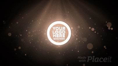 Intro Maker for a Logo Reveal Featuring Animated Fractals 2123-el1