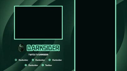 Twitch Overlay Design Creator with a Vertical Screen Frame and a Dark Style 2728b