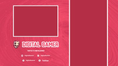 Twitch Overlay Template for Mobile Gamers with a Kawaii Character 2728d