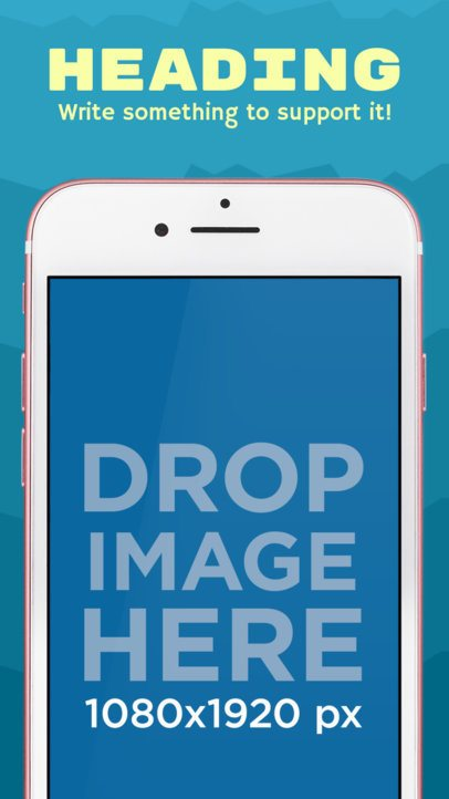 iOS Screenshot Builder of an iPhone 7 in Portrait Mode 1345a