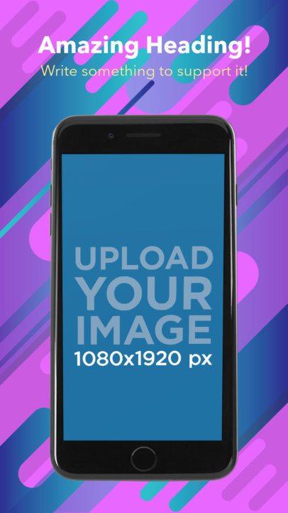 Portrait Black iPhone 7 Appstore Screenshot Generator