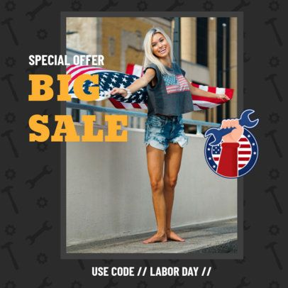 Instagram Post Creator for a Labor Day Promo Code 2777h