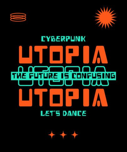 T-Shirt Design Maker with a Futuristic Typography in a Quote 2769d