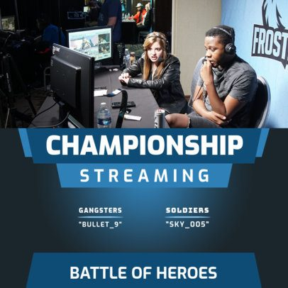 Gaming Instagram Post Template for a Championship Streaming 2453d-el1