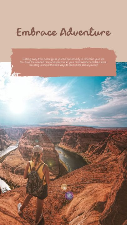Instagram Story Template for Adventure Travel Bloggers 2491c-el1
