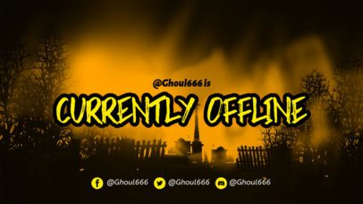 Twitch Offline Banner Generator for a Horror-Themed Gaming Streaming Channel 2796c