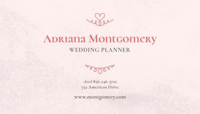 Business Card Generator for Wedding Planners 132b