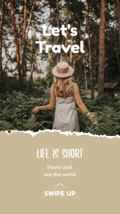 Instagram Story Creator with a Fun Travel Quote 2483a-el1