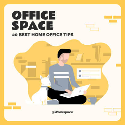 Instagram Post Creator for Illustrated Home Office Tips  2583b-el1