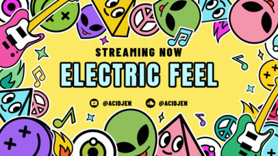 Twitch Banner Generator Featuring Music and Alien Graphics 2825f