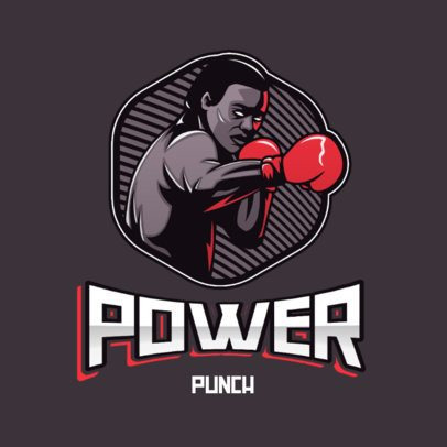 Sports Logo Template Featuring a Cool Illustration of a Boxer 3586f