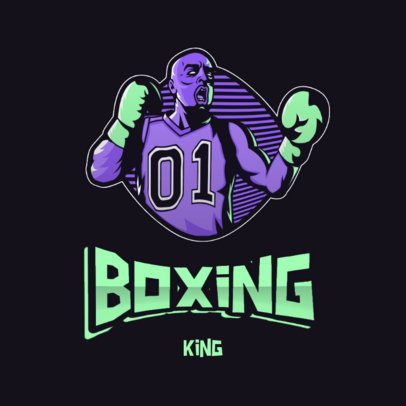 Sports Logo Creator Featuring an Illustration of a Boxer with an Urban Style 3586g