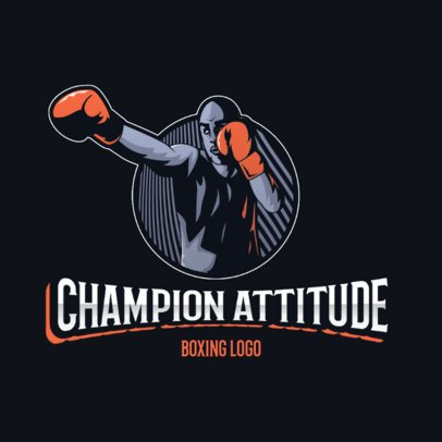 Boxing Logo Creator Featuring a Cool Illustration 3586i