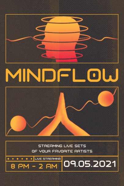 Poster Design Generator for an Online Festival Featuring Minimal Illustrations 2604d