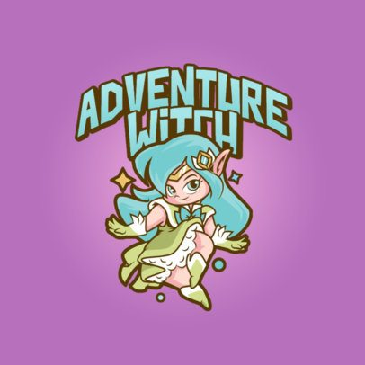 League of Legends-Inspired Logo Maker Featuring a Magical Female Character 3598f