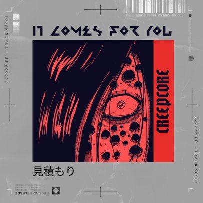 Rap Album Cover Maker Featuring Horror Anime Graphics 2872
