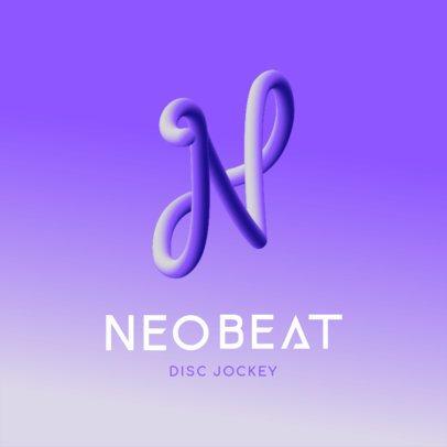 Monogram Logo Maker Featuring Cool Neon 3D Letters 3613