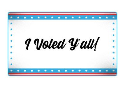 Face Mask Design Generator with a Proud Voting Quote 2877j