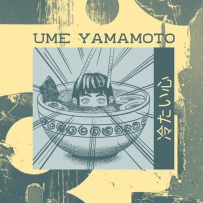 Rap Album Cover Creator Featuring a Manga Vignette 2872d