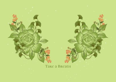Face Mask Design Generator Featuring Flower Graphics 2883a