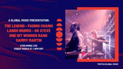 Twitch Banner Design Maker Featuring an Online Rock Concert Lineup 2728-el1