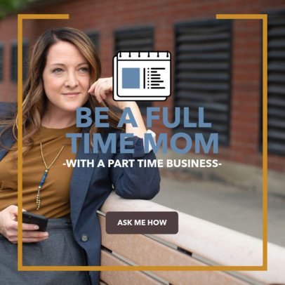 Ad Banner Template Featuring Business Ideas for Moms 2900g