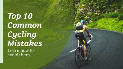 YouTube Thumbnail Design Template for a Cycling Vlog 899e