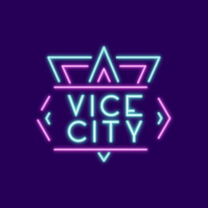 Music Logo Creator with a Night Lights Theme 3633c
