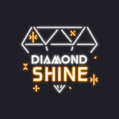 Online Logo Maker Featuring a Diamond Neon Sign Graphic 3633i