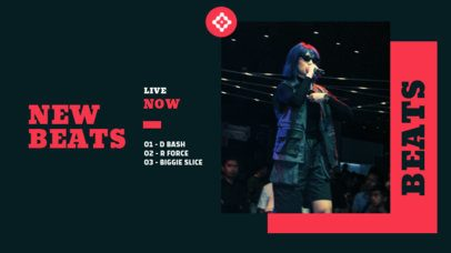 Twitch Banner Template for an Ongoing Live Concert 2732a-el1